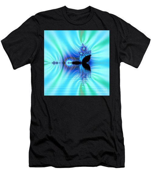 Turquoise Lake Fractal Men's T-Shirt (Athletic Fit)