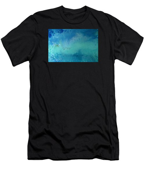 Turquoise Ocean Men's T-Shirt (Athletic Fit)
