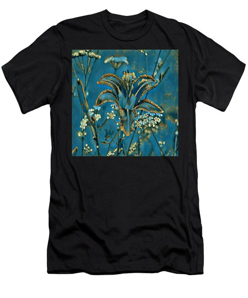 Turquoise Tigerlily  Men's T-Shirt (Athletic Fit)