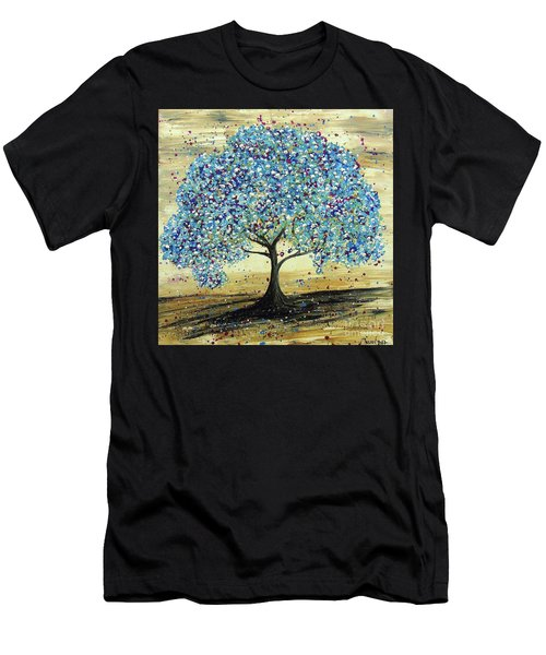 Turquoise Tree Men's T-Shirt (Athletic Fit)