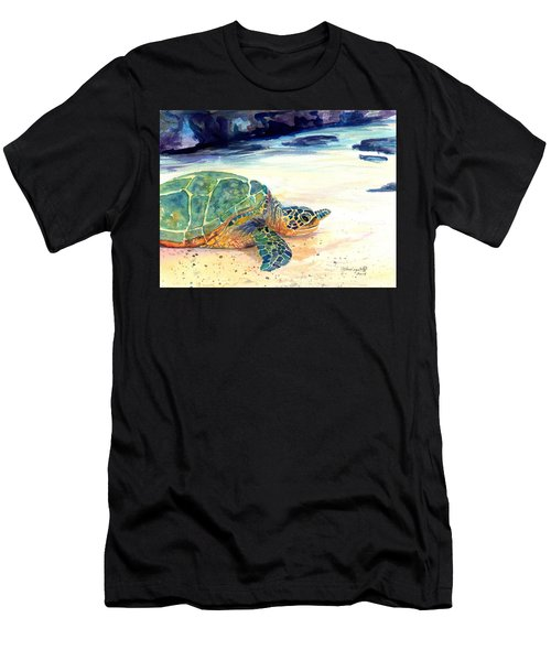 Turtle At Poipu Beach 5 Men's T-Shirt (Athletic Fit)