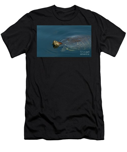 Turtle Floating In Calm Waters Men's T-Shirt (Athletic Fit)