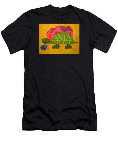 Turtle In Neighborhood Men's T-Shirt (Athletic Fit)