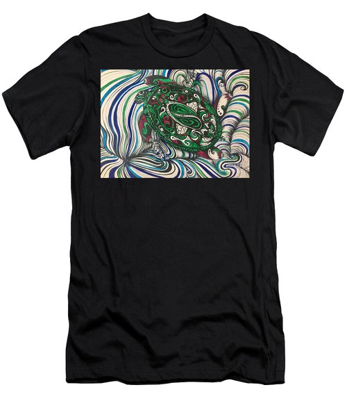 Turtle Time All Alone Men's T-Shirt (Athletic Fit)
