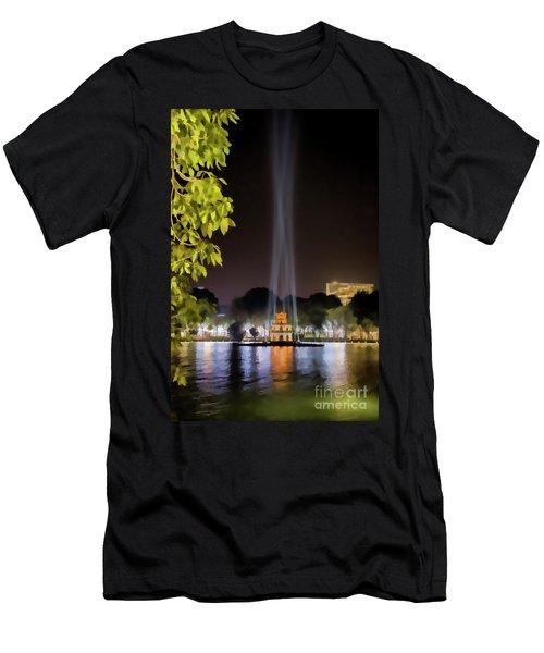 Turtle Tower Paint  Men's T-Shirt (Athletic Fit)