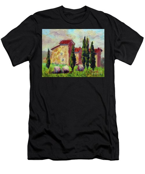Tuscan House With Hay Men's T-Shirt (Athletic Fit)