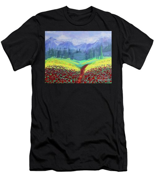 Tuscan Poppies Men's T-Shirt (Athletic Fit)
