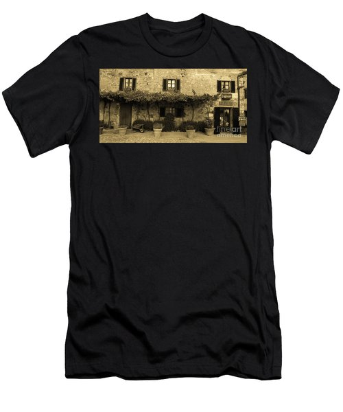 Men's T-Shirt (Athletic Fit) featuring the photograph Tuscan Village by Frank Stallone