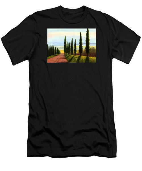 Tuscany Cypress Trees Men's T-Shirt (Athletic Fit)