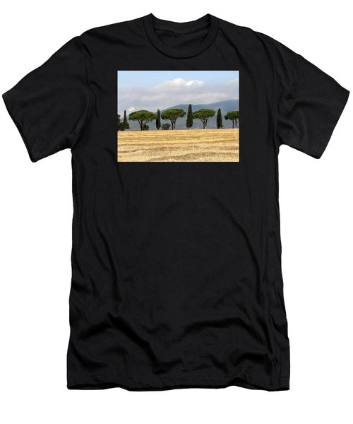 Men's T-Shirt (Athletic Fit) featuring the digital art Tuscany Trees by Julian Perry