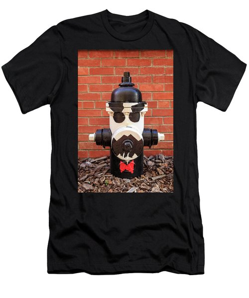 Tuxedo Hydrant Men's T-Shirt (Slim Fit) by James Eddy
