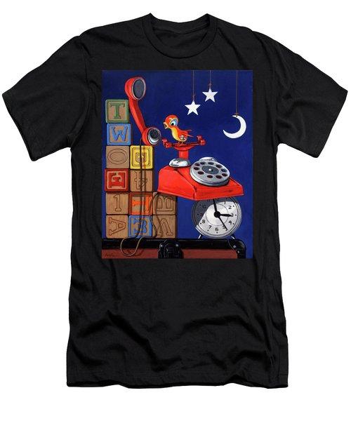 Tweets -narrative Painting Men's T-Shirt (Athletic Fit)