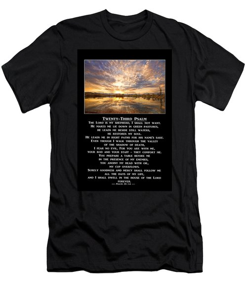 Twenty-third Psalm Prayer Men's T-Shirt (Athletic Fit)