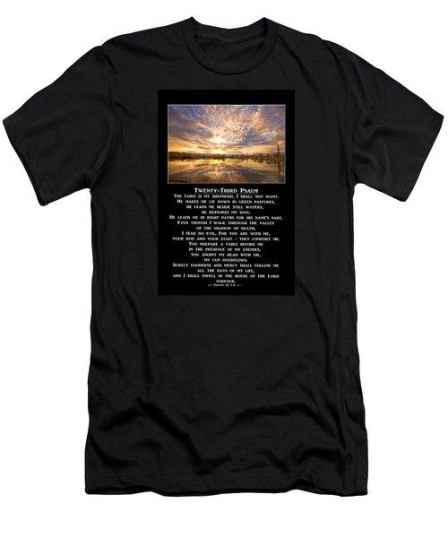 Twenty-third Psalm Prayer Men's T-Shirt (Slim Fit)