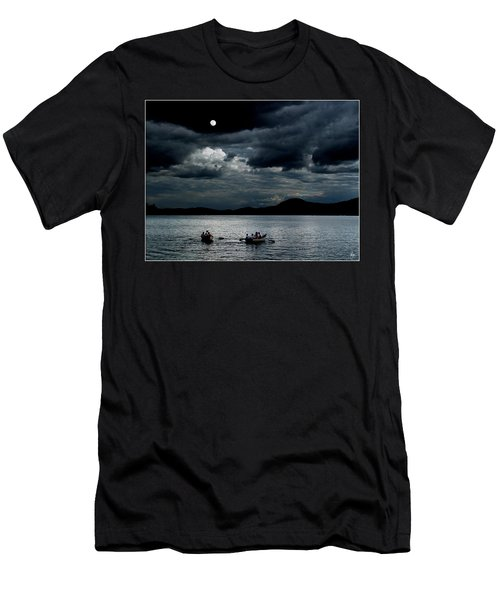 Men's T-Shirt (Athletic Fit) featuring the photograph Twice In A Blue Moon by Wayne King