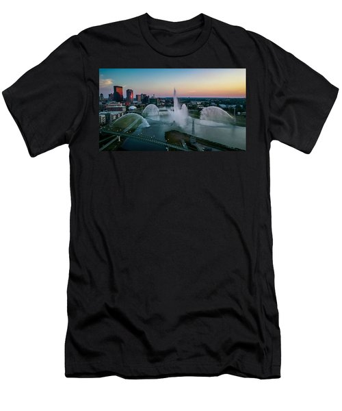 Twilight At The Fountains Men's T-Shirt (Athletic Fit)
