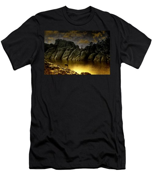 Twilight At The Lake Men's T-Shirt (Athletic Fit)