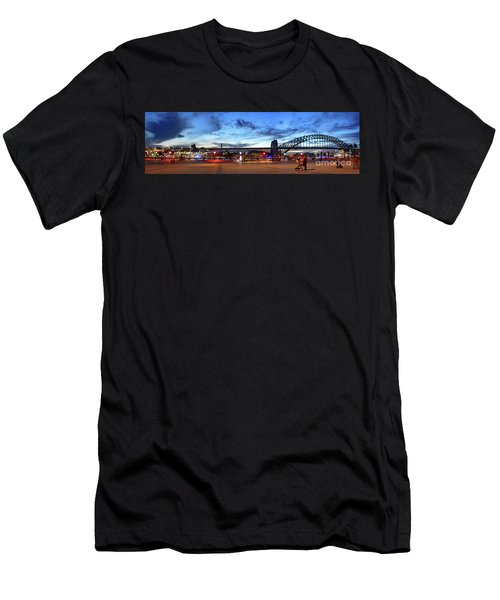 Twilight By The Bridge By Kaye Menner Men's T-Shirt (Athletic Fit)