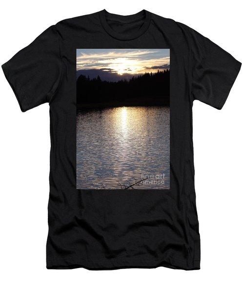 Twilight Glitter Pattern Light Show Men's T-Shirt (Athletic Fit)