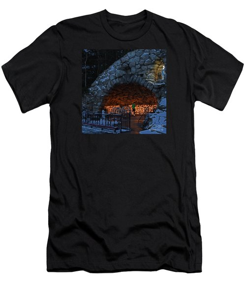 Twilight Grotto Prayer Men's T-Shirt (Athletic Fit)