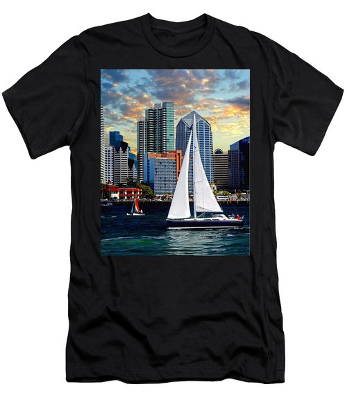 Twilight Harbor Curise1 Men's T-Shirt (Slim Fit) by Chambers and  De Forge