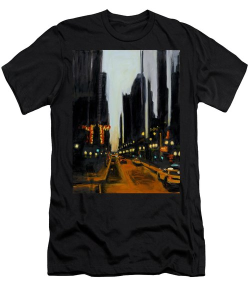 Twilight In Chicago Men's T-Shirt (Athletic Fit)
