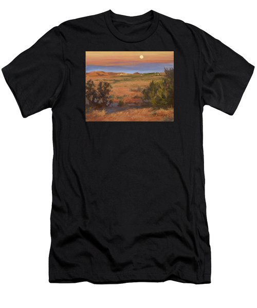 Twilight Moonrise, Valyermo Men's T-Shirt (Athletic Fit)