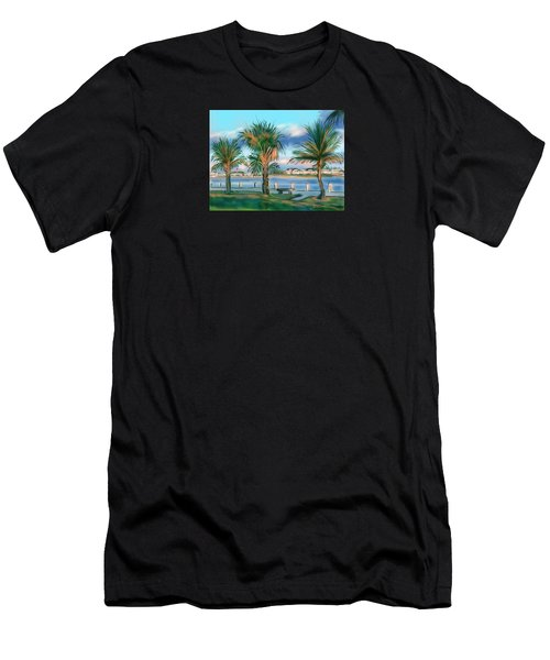 Twilight On Saw Fish Bay Men's T-Shirt (Athletic Fit)