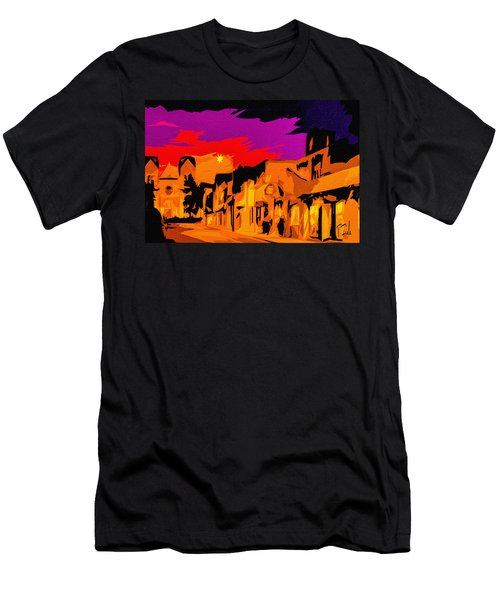 Twilight On The Plaza Santa Fe Men's T-Shirt (Athletic Fit)