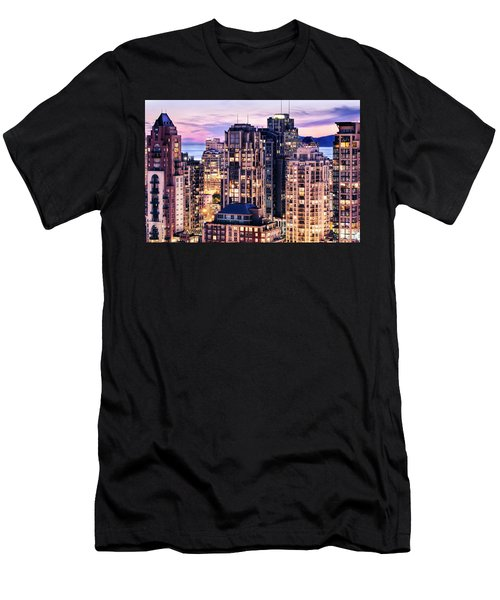 Twilight Over English Bay Vancouver Men's T-Shirt (Athletic Fit)