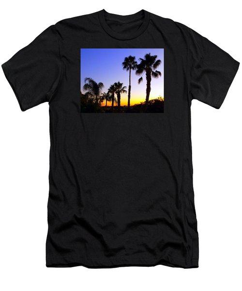 Twilight Palms Men's T-Shirt (Athletic Fit)