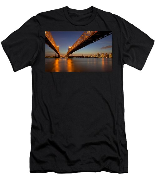 Men's T-Shirt (Slim Fit) featuring the photograph Twin Bridges by Evgeny Vasenev