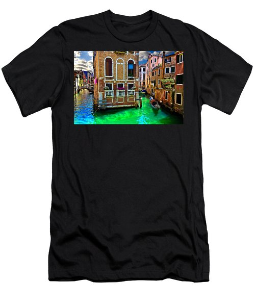 Twin Canals Men's T-Shirt (Slim Fit) by Harry Spitz