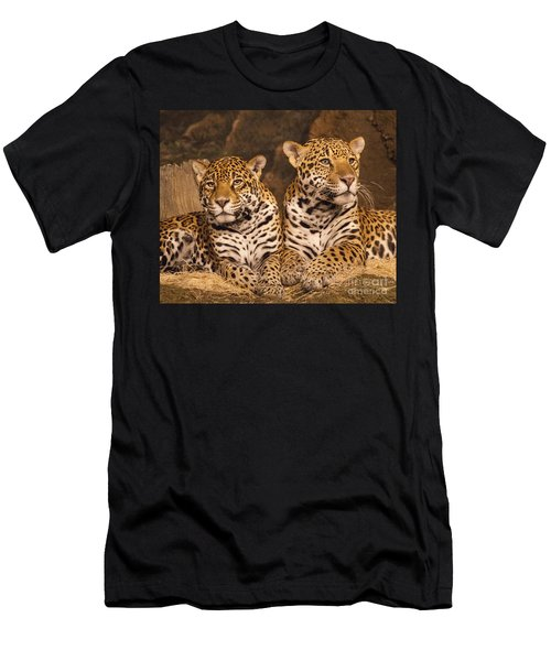 Twin Cheetahs Men's T-Shirt (Athletic Fit)