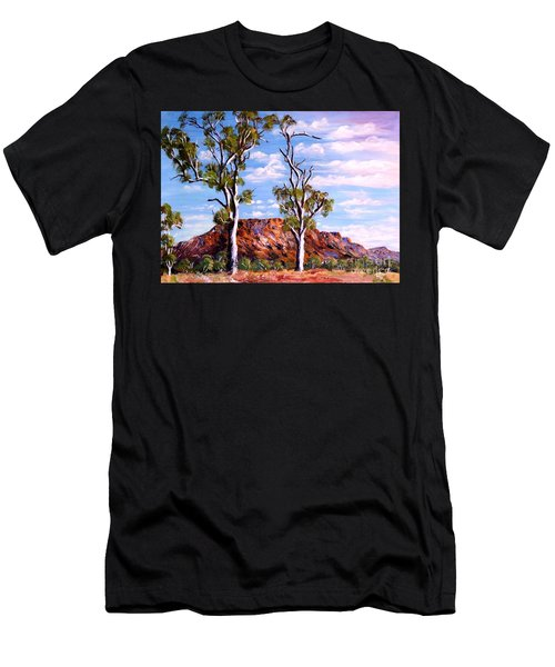 Twin Ghost Gums Of Central Australia Men's T-Shirt (Athletic Fit)