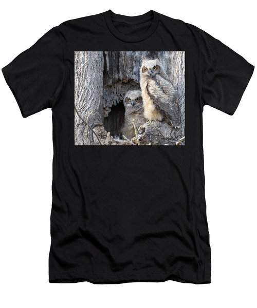 Twin Owls Men's T-Shirt (Athletic Fit)