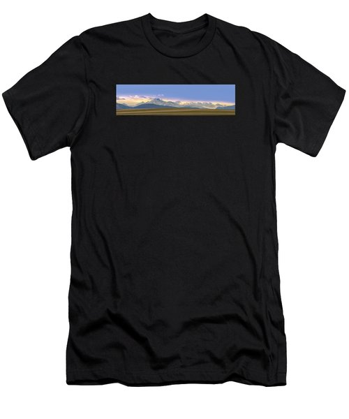 Twin Peaks Panorama View From The Agriculture Plains Men's T-Shirt (Athletic Fit)