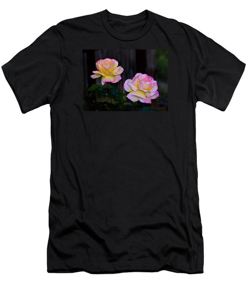 Twin Roses Men's T-Shirt (Slim Fit) by Josephine Buschman
