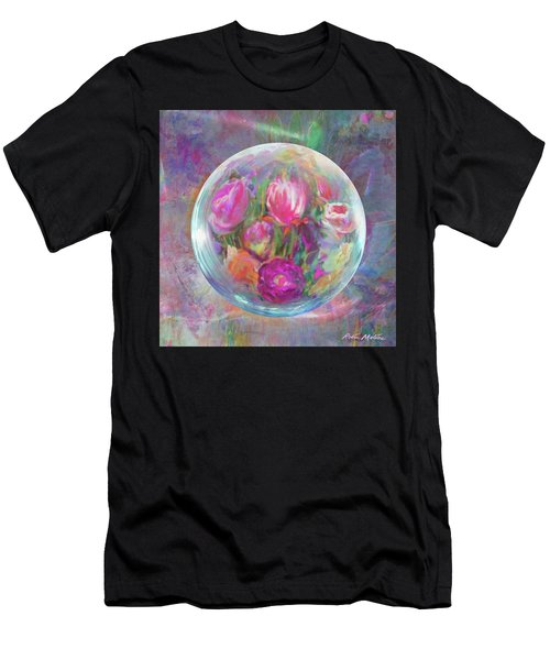Twirling In Tulips Men's T-Shirt (Athletic Fit)