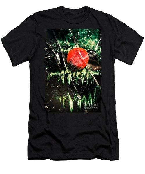 Twisted Evil Clown Portrait Men's T-Shirt (Athletic Fit)