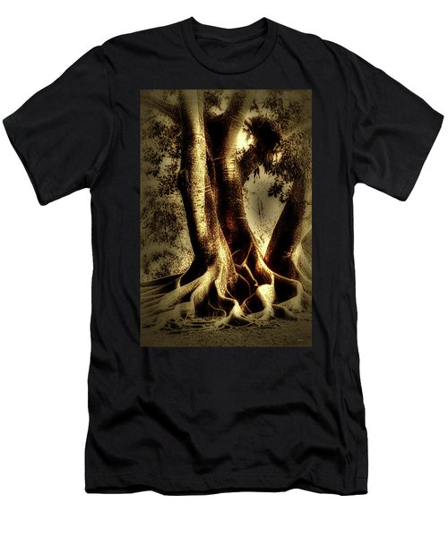 Men's T-Shirt (Slim Fit) featuring the photograph Twisted Trees by Tom Prendergast