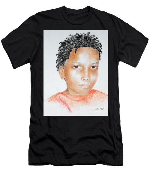Twists, At 9 -- Portrait Of African-american Boy Men's T-Shirt (Athletic Fit)