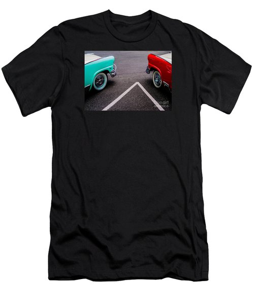 Men's T-Shirt (Slim Fit) featuring the photograph Two 1958 Ford Crown Victorias by M G Whittingham