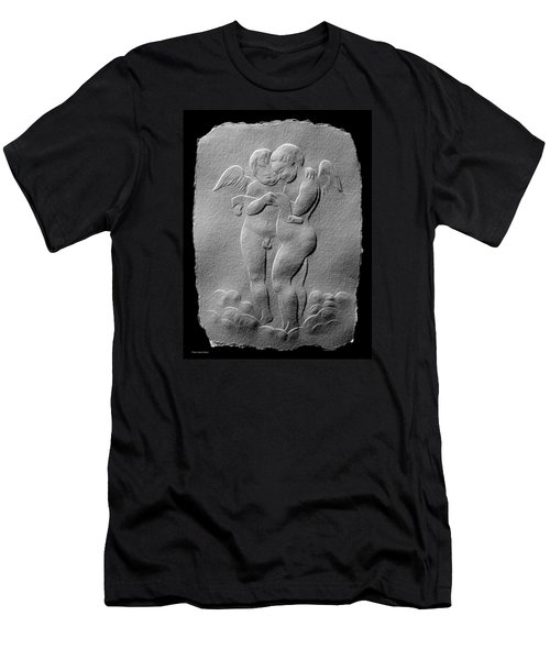 Two Angels Men's T-Shirt (Slim Fit) by Suhas Tavkar