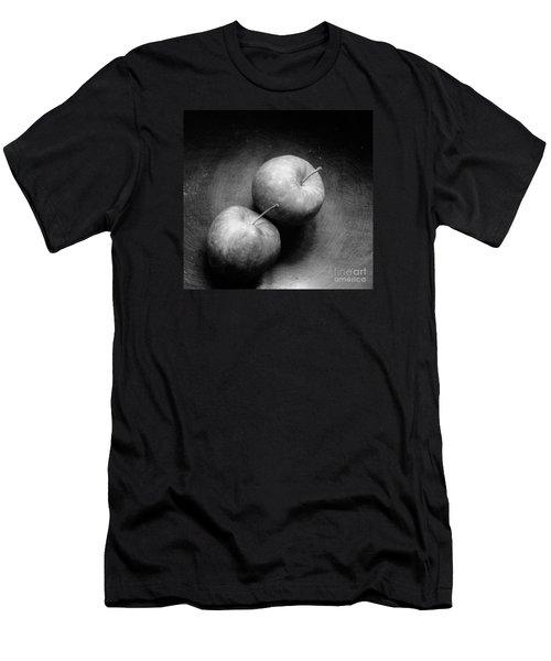 Two Apples In Love Men's T-Shirt (Slim Fit) by Steven Macanka
