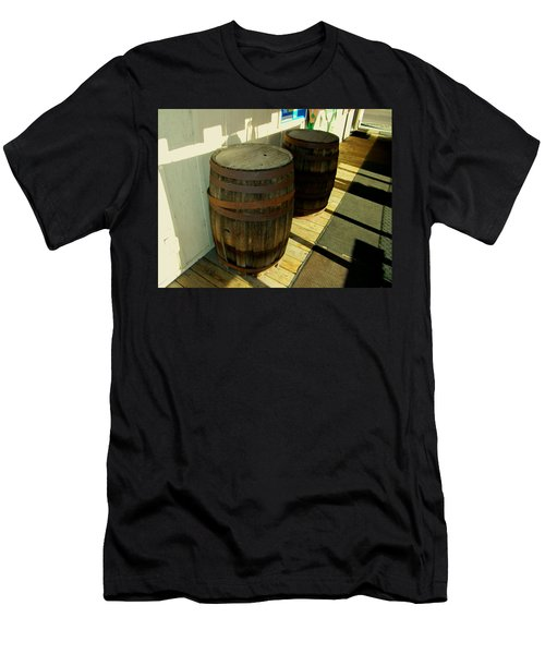 Men's T-Shirt (Slim Fit) featuring the photograph Two Barrels by Lenore Senior