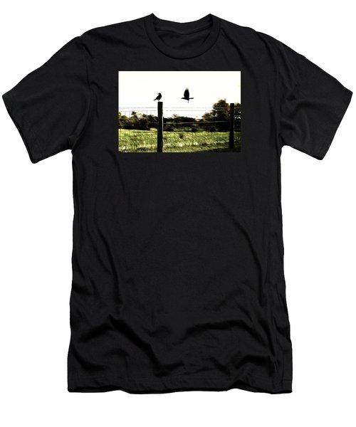 Two Birds Men's T-Shirt (Slim Fit) by Carlee Ojeda