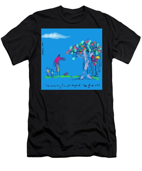 Two Boys, A Dog, And A Giant Men's T-Shirt (Athletic Fit)