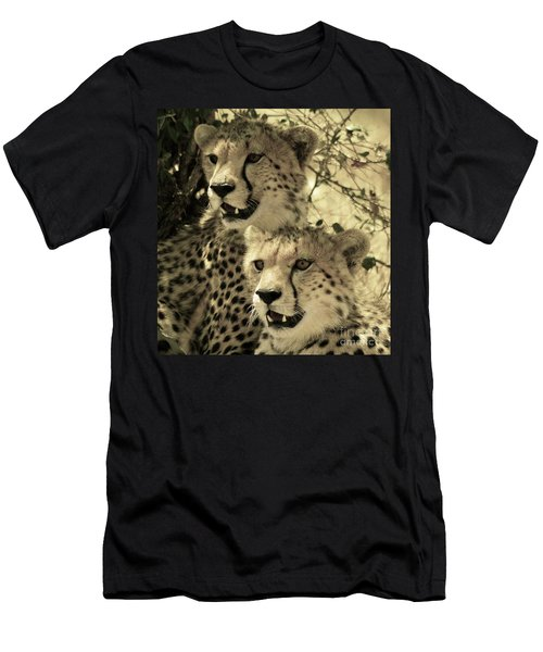Men's T-Shirt (Athletic Fit) featuring the photograph Two Cheetahs by Frank Stallone