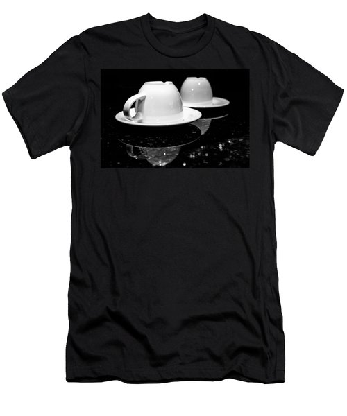 Two Coffee Cups Men's T-Shirt (Athletic Fit)